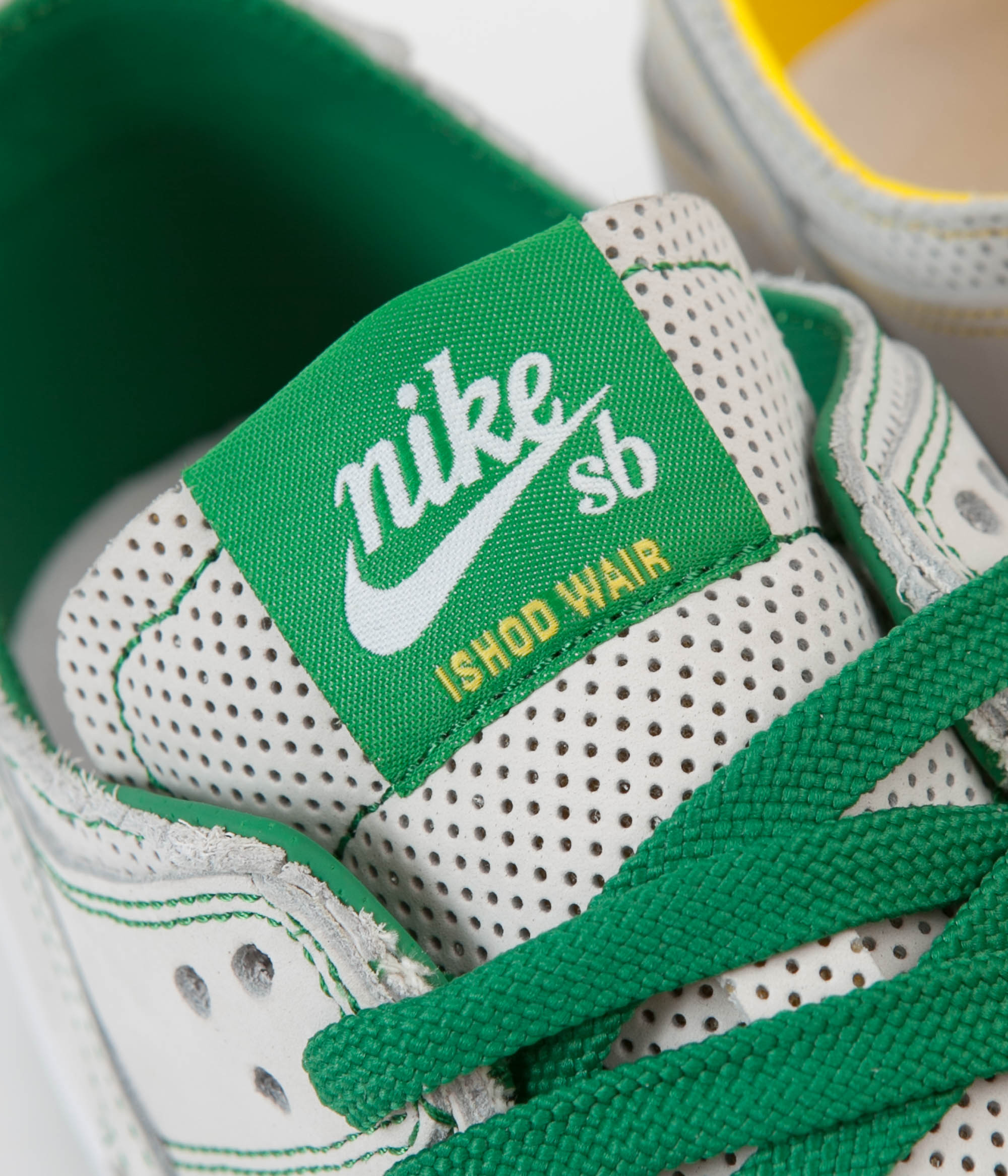 02b4da59760 ... Nike SB Dunk Low Pro Ishod Deconstructed Shoes - White   White - Aloe  Verde ...