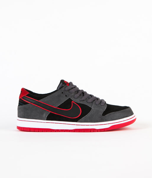 Nike SB Dunk Low Pro Ishod Wair Shoes - Dark Grey / Black - University Red - White