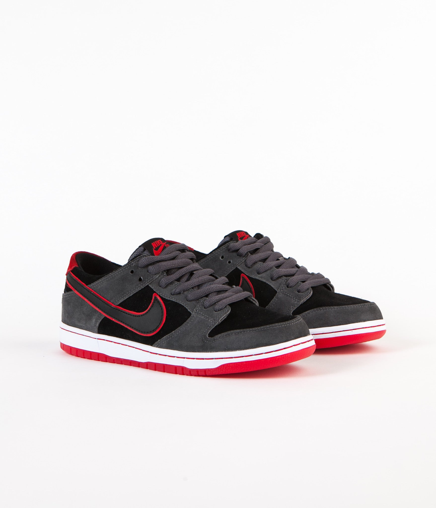f93f61d6fea ... wholesale nike sb dunk low pro ishod wair shoes dark grey black  university red 21fcb b6bae