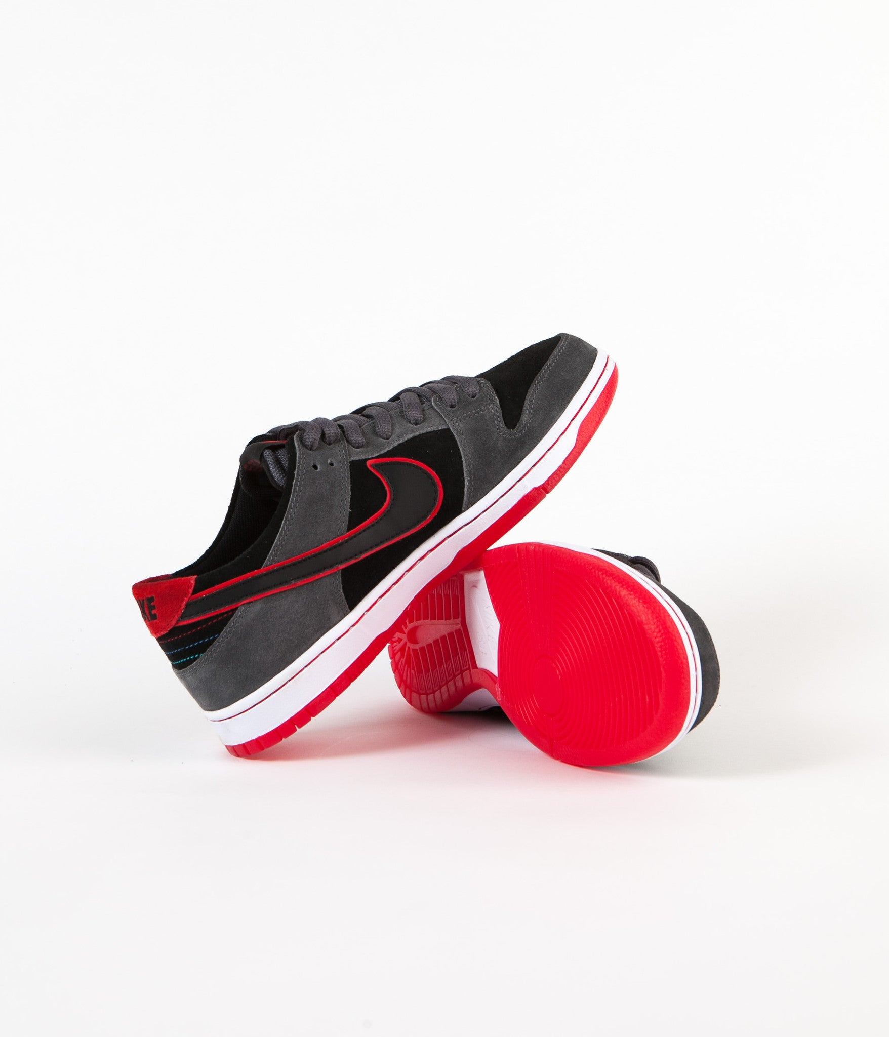 official photos ace1b c44d7 ... Nike SB Dunk Low Pro Ishod Wair Shoes - Dark Grey   Black - University  Red ...
