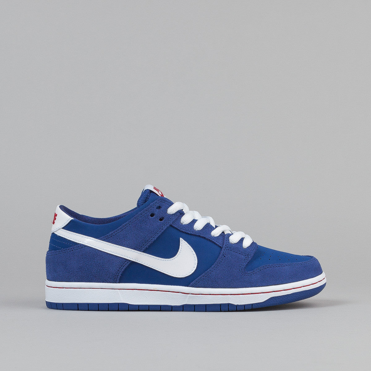 Nike SB Dunk Low Pro Ishod Wair Shoes - Deep Royal / White - Gym Red