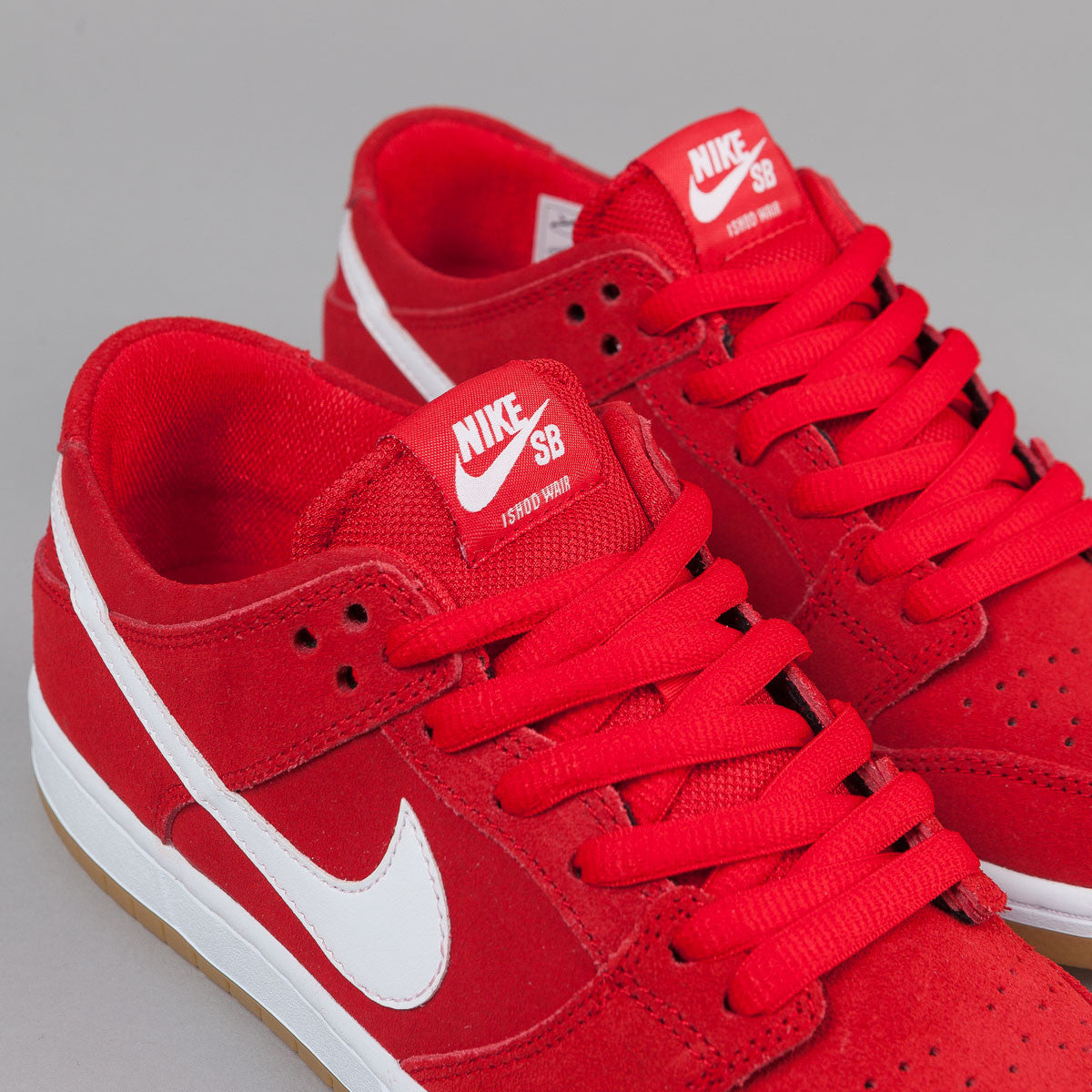 Nike SB Dunk Low Pro Ishod Wair Shoes - University Red / White - Light Brown