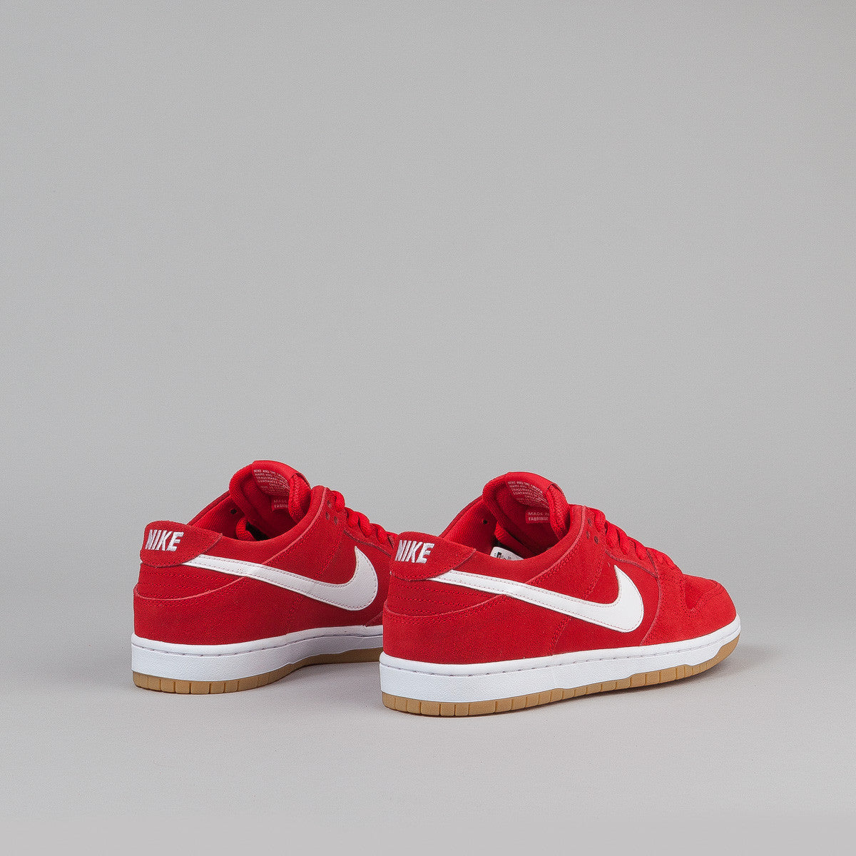 hot sale online 1c39f faae5 NikeSBDunkLowProIWUniversityRedWhite-GumLightBrownFeature Nike SB Dunk Low  Pro Ishod Wair Shoes - University Red White - Light Brown .