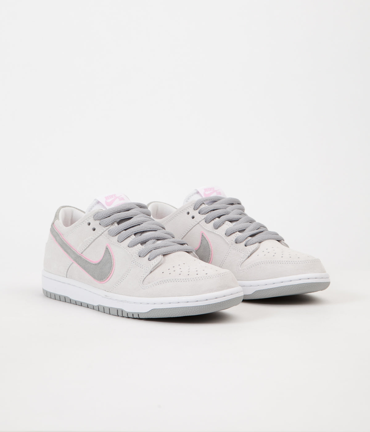cheaper 9dd24 284c2 ... purchase nike sb dunk low pro ishod wair shoes white perfect pink flat  silver a7e9a 76d74