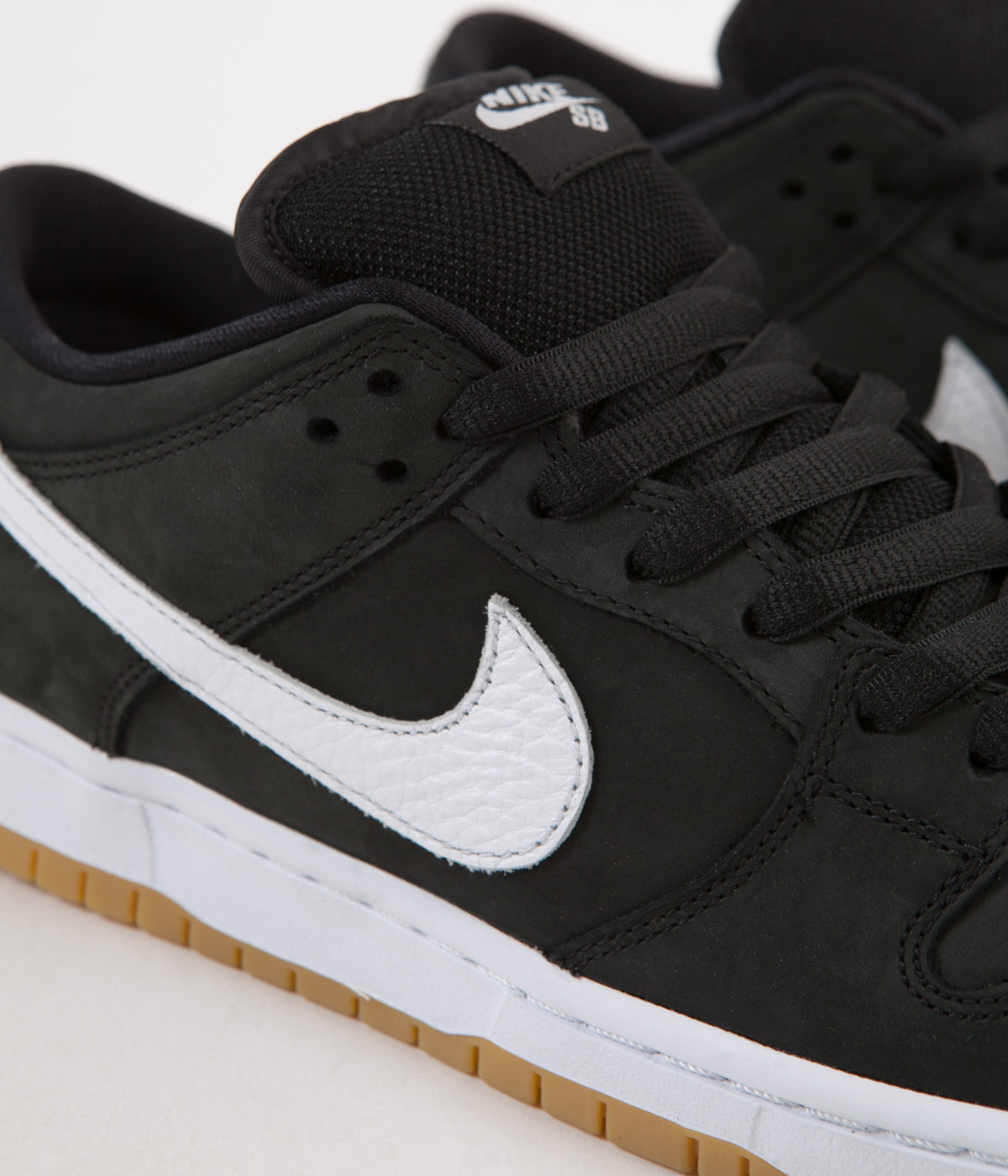 new style 2be08 b0a7e ... Nike SB Orange Label Dunk Low Pro Shoes - Black  White - Black ...