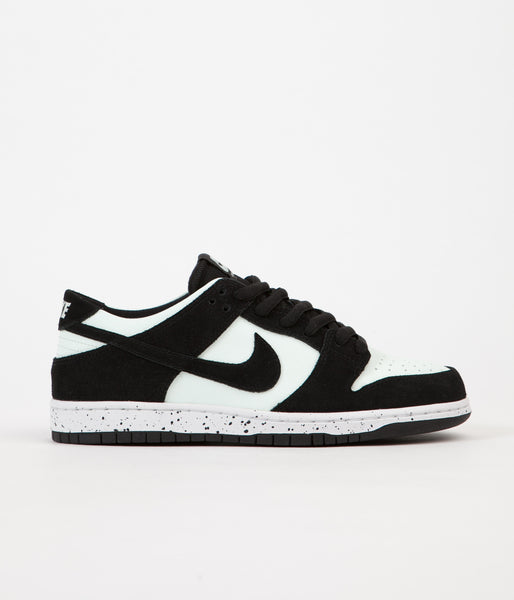 Nike SB Dunk Low Pro Shoes - Black / Black - Barely Green - White
