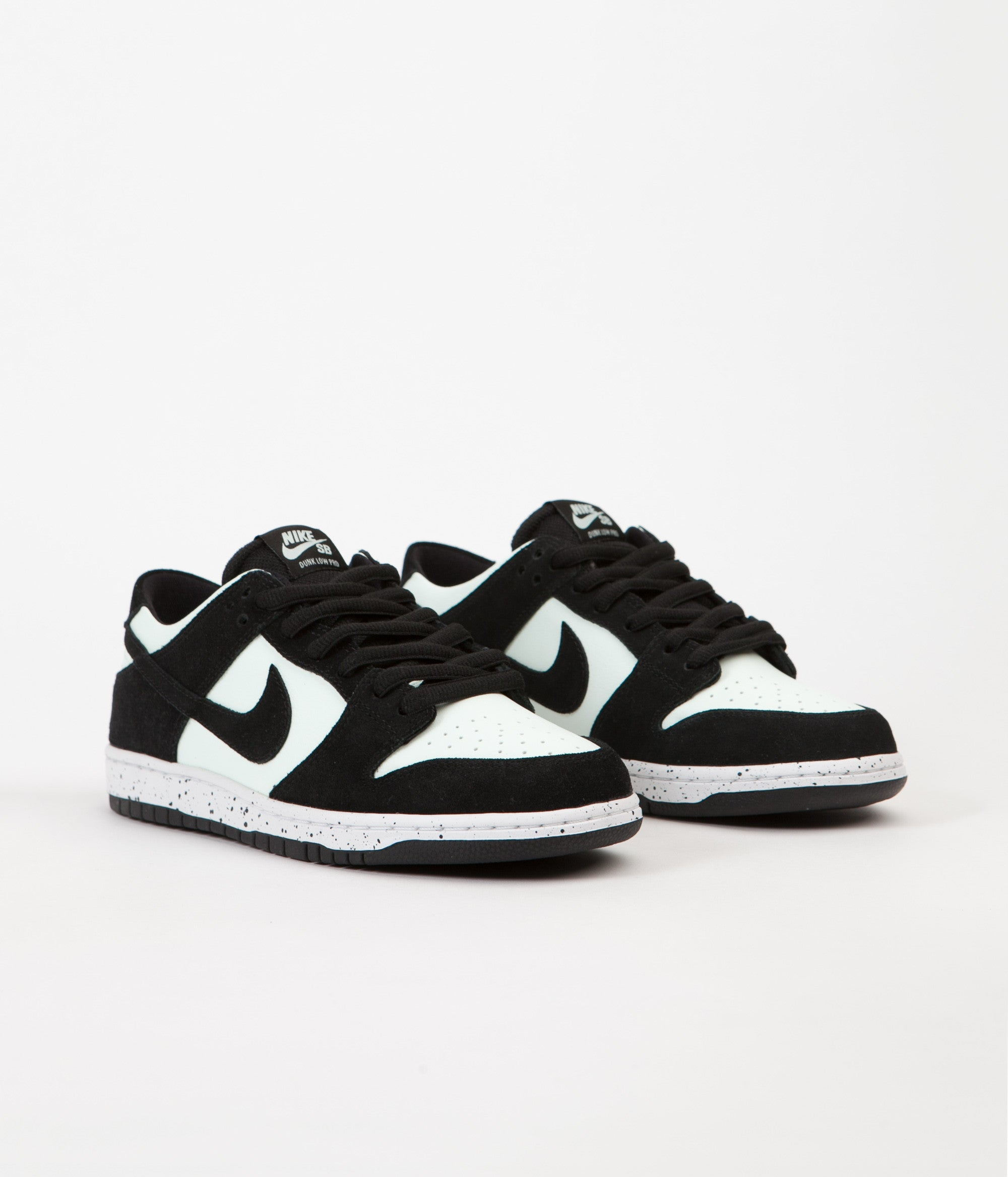 ... Nike SB Dunk Low Pro Shoes - Black   Black - Barely Green - White ... 39534a4a76c8