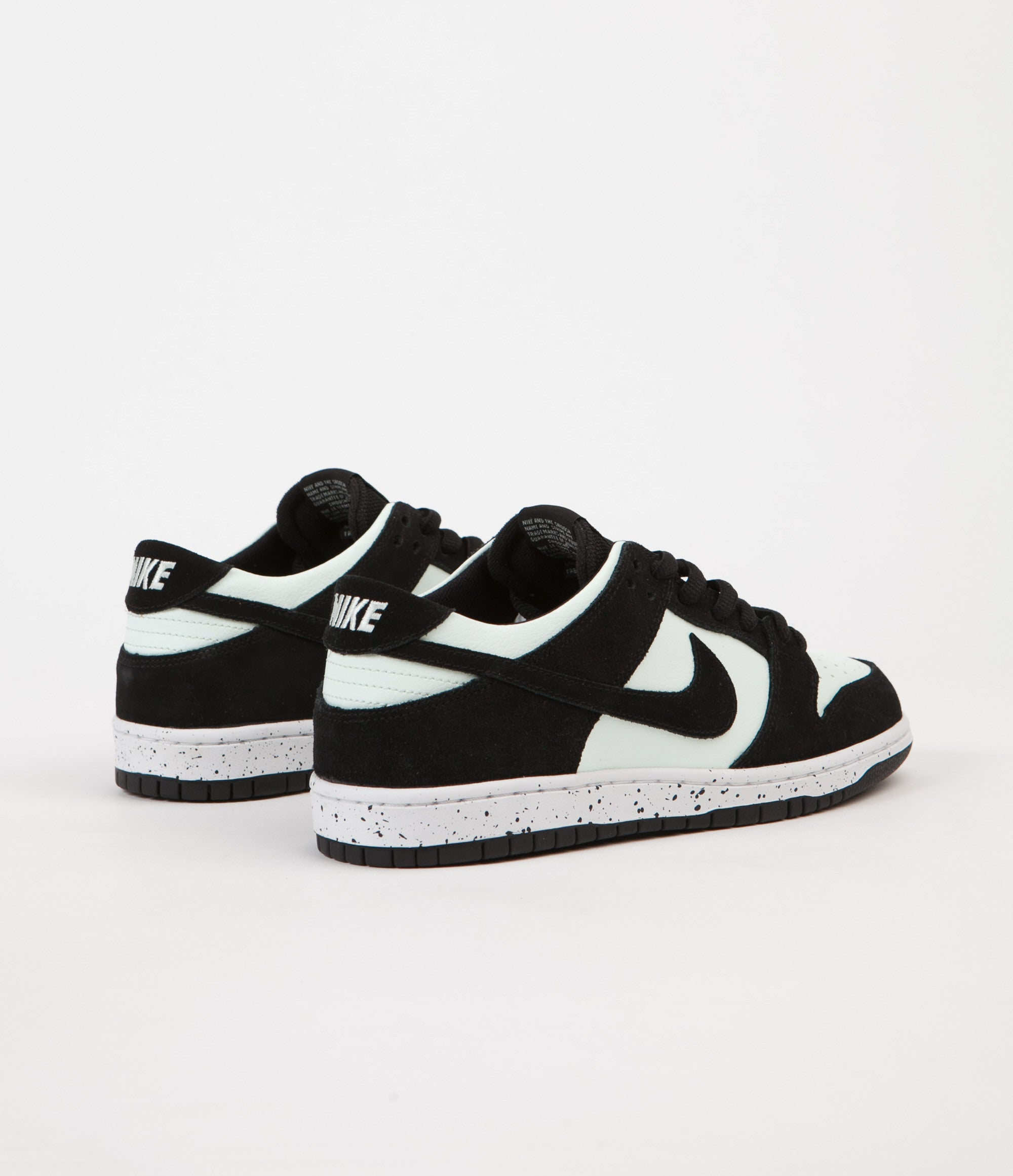 a324bb605e Nike SB Dunk Low Pro Shoes - Black / Black - Barely Green - White ...