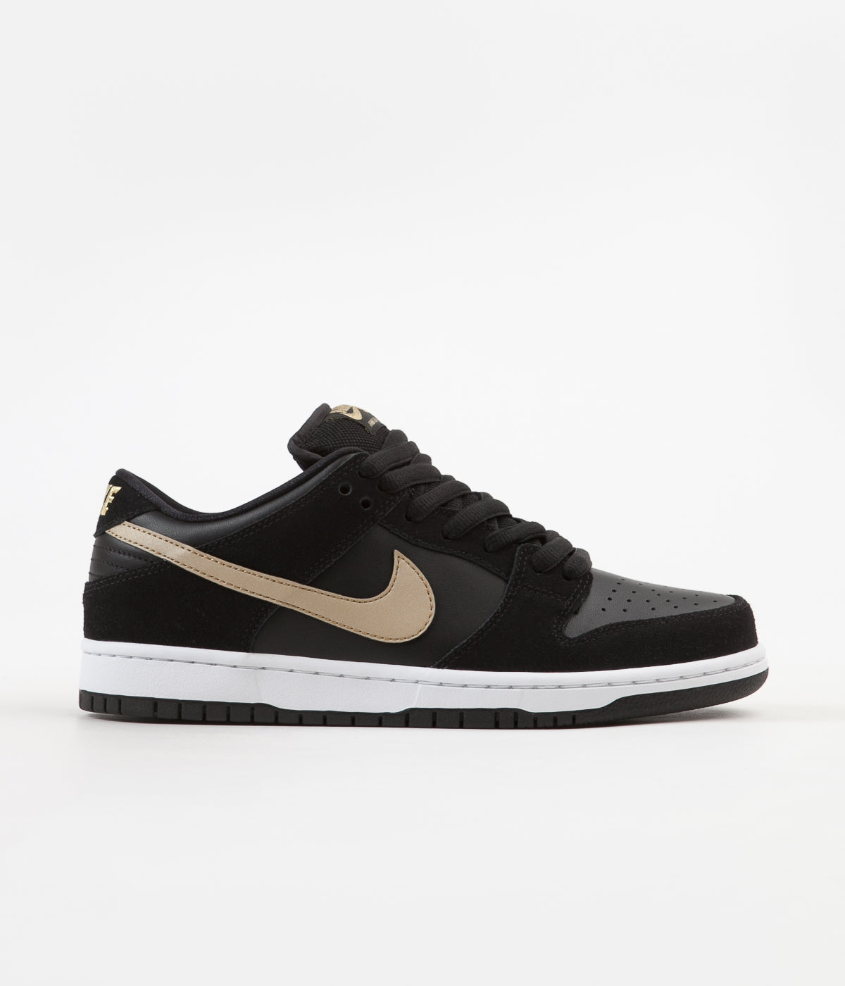 check out 54629 ddb69 ... Nike SB Dunk Low Pro Shoes - Black   Metallic Gold - White ...