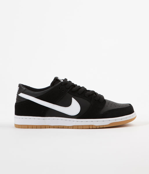 Nike SB Dunk Low Pro Shoes - Black / White - Gum Light Brown
