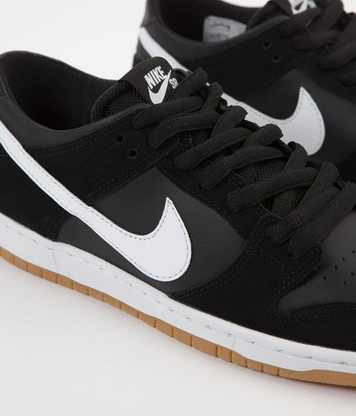 the latest 94bfc 37302 Nike SB Dunk Low Pro Shoes - Black  White - Gum Light Brown
