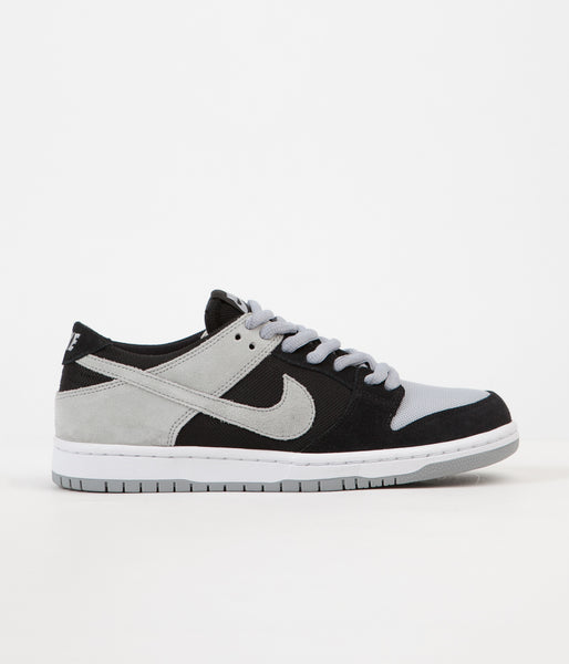 Nike SB Dunk Low Pro Shoes - Black / Wolf Grey - White - White