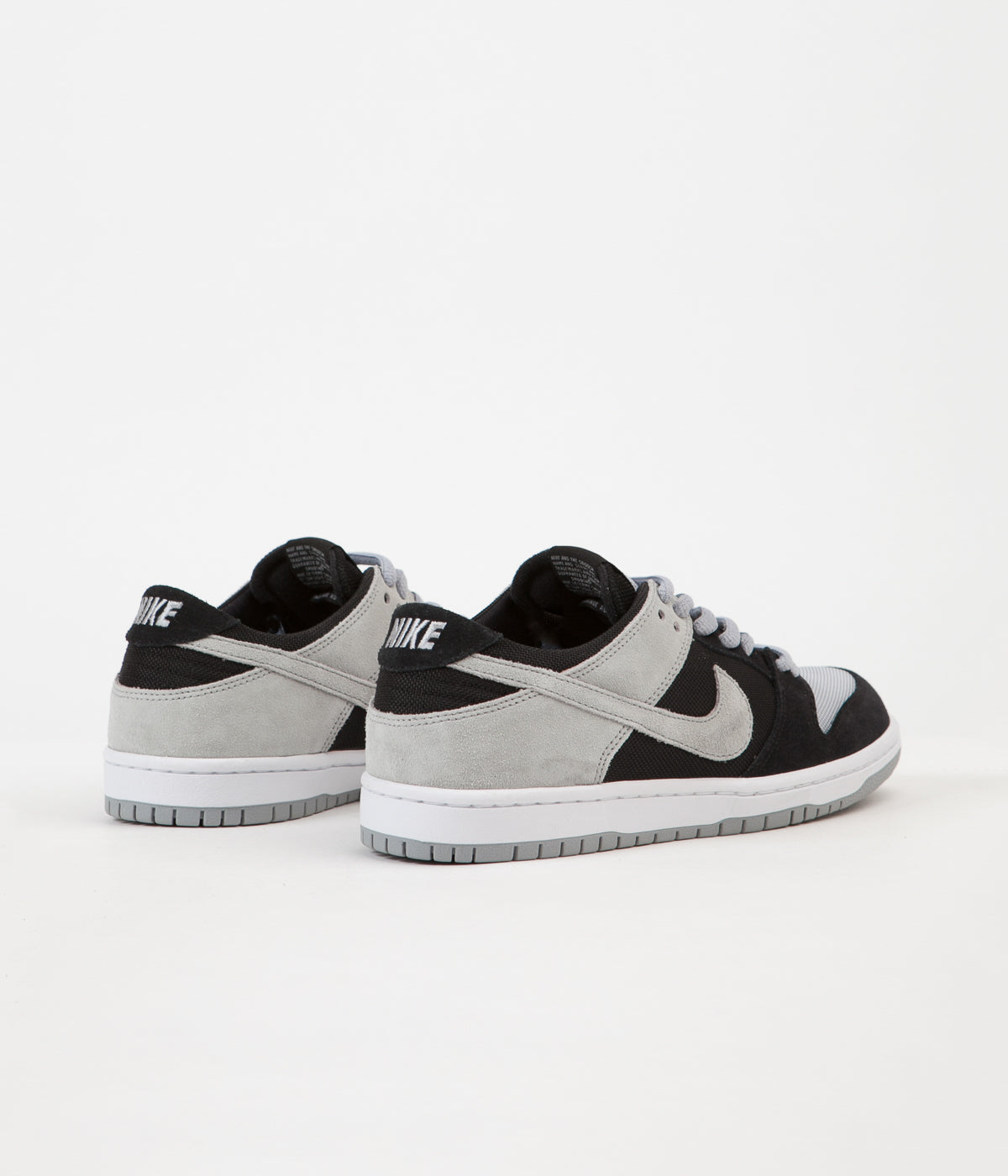 quality design de4e7 712de ... germany nike sb dunk low pro shoes black wolf grey white white 7797e  6bd7b