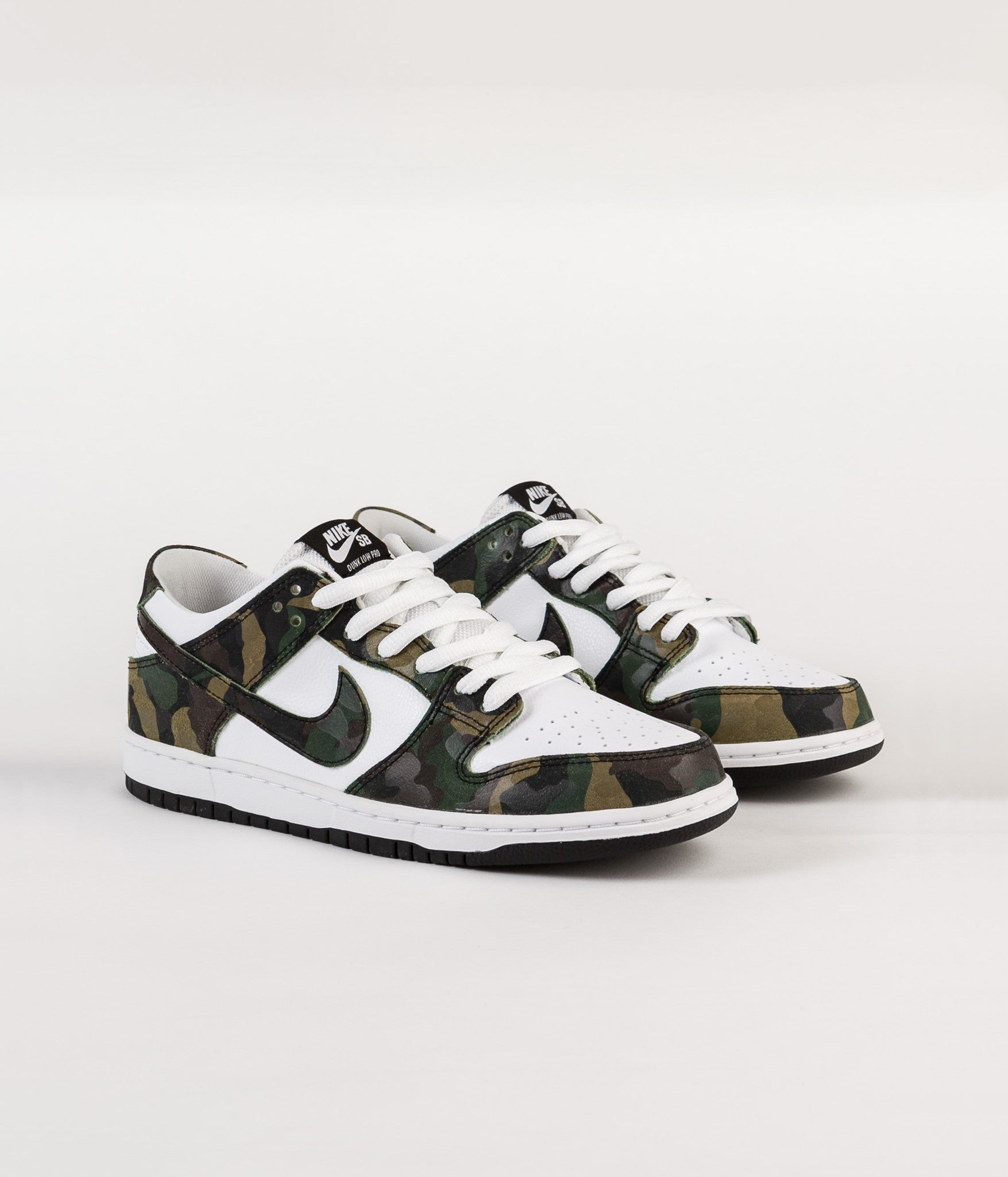 ... Nike SB Dunk Low Pro Shoes - Legion Green   Legion Green - White -  Black ... 7fe47a2382940