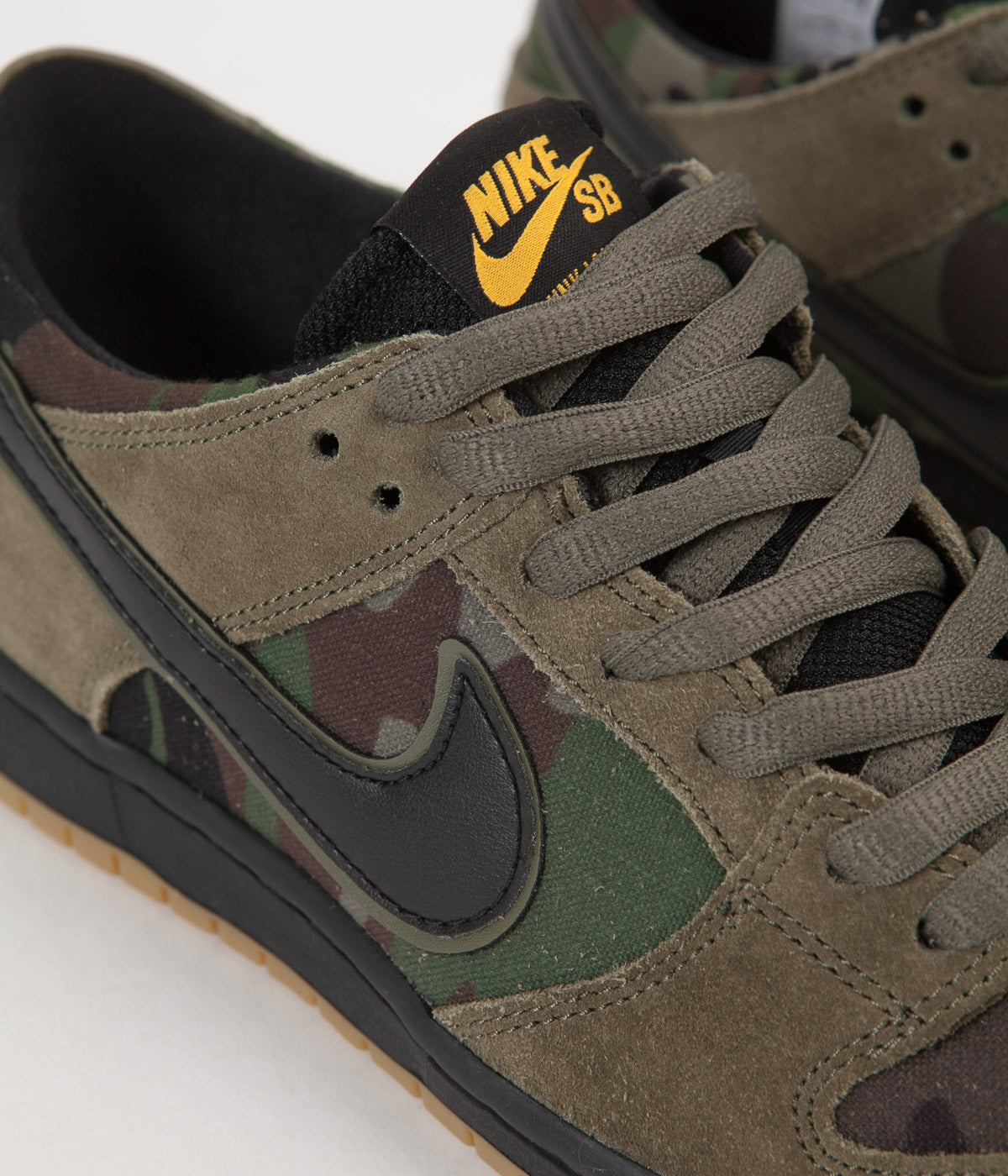 competitive price 5a103 96139 ... Nike SB Dunk Low Pro Shoes - Medium Olive  Black - Gum Light Brown ...