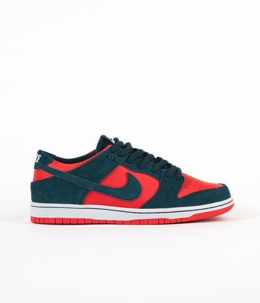 Nike SB Dunk Low Pro Shoes - Nightshade / Nightshade - Chile Red