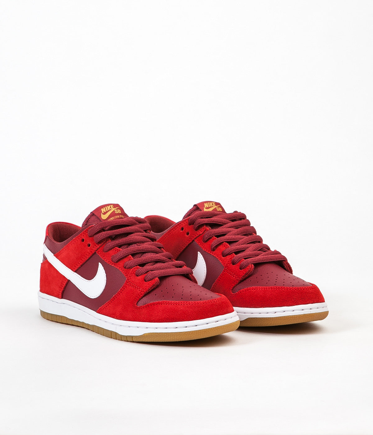 hot sale online 9941b cddd3 Nike SB Dunk Low Pro Shoes - Track Red / White - Cedar - Gum ...