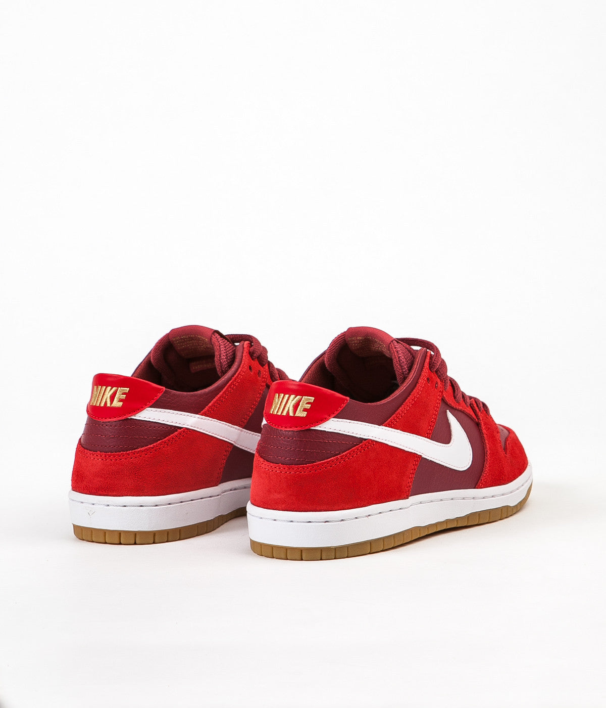 hot sale online 94285 9646f Nike SB Dunk Low Pro Shoes - Track Red / White - Cedar - Gum ...