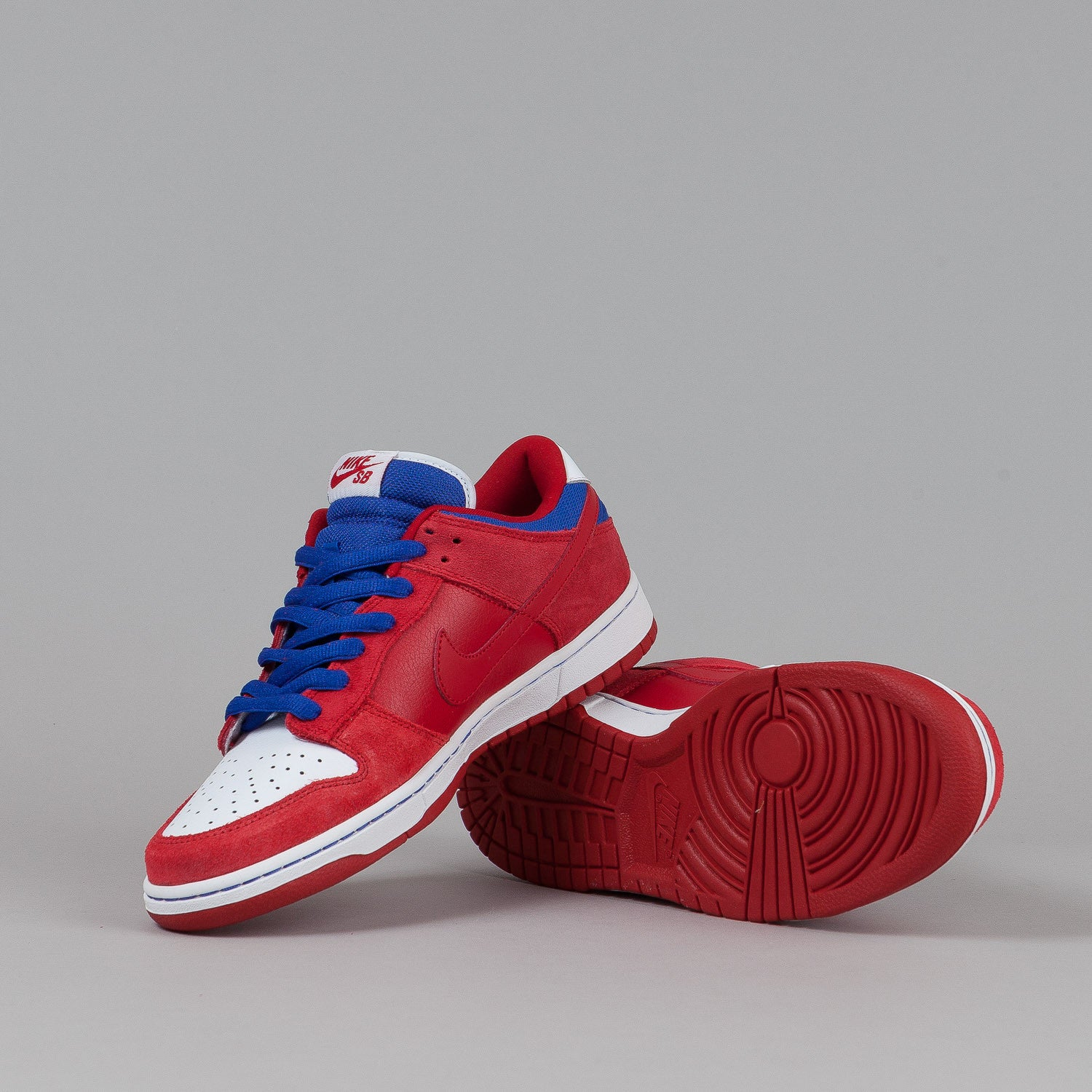Nike SB Dunk Low Pro Shoes - Varsity Red / Varsity Red / Old Royal