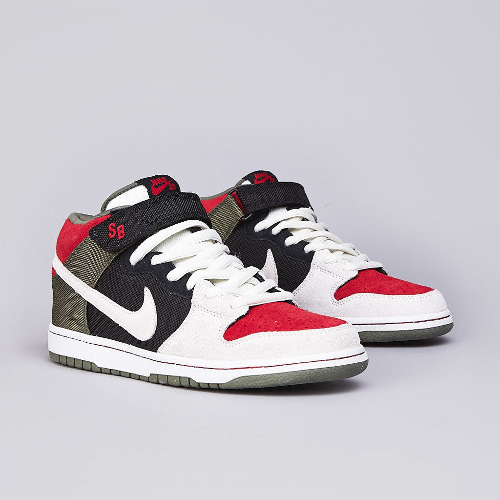 the latest 2a865 a6437 nike sb mid pro black varsity red