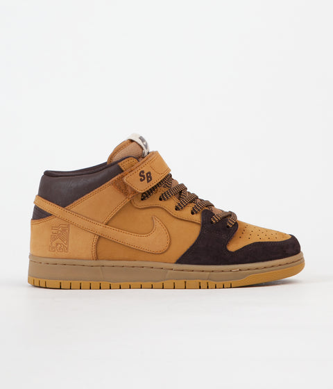 Nike SB Dunk Mid Pro 'Lewis Marnell' Shoes - Cappuccino / Bronze - Wheat