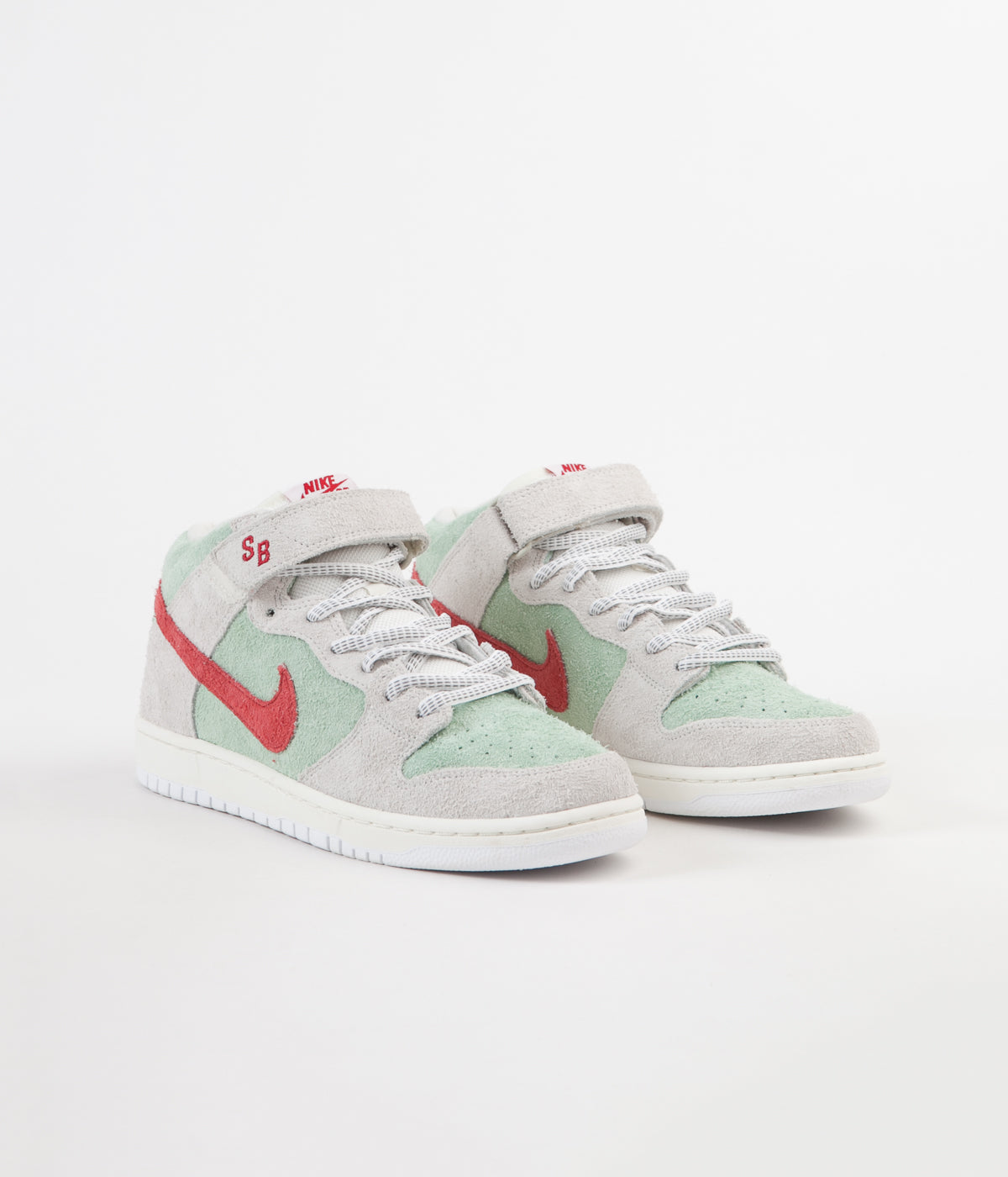 watch 5f62e a0d70 ... Nike SB Dunk Mid Pro  White Widow  Shoes - Sail   Gym Red ...