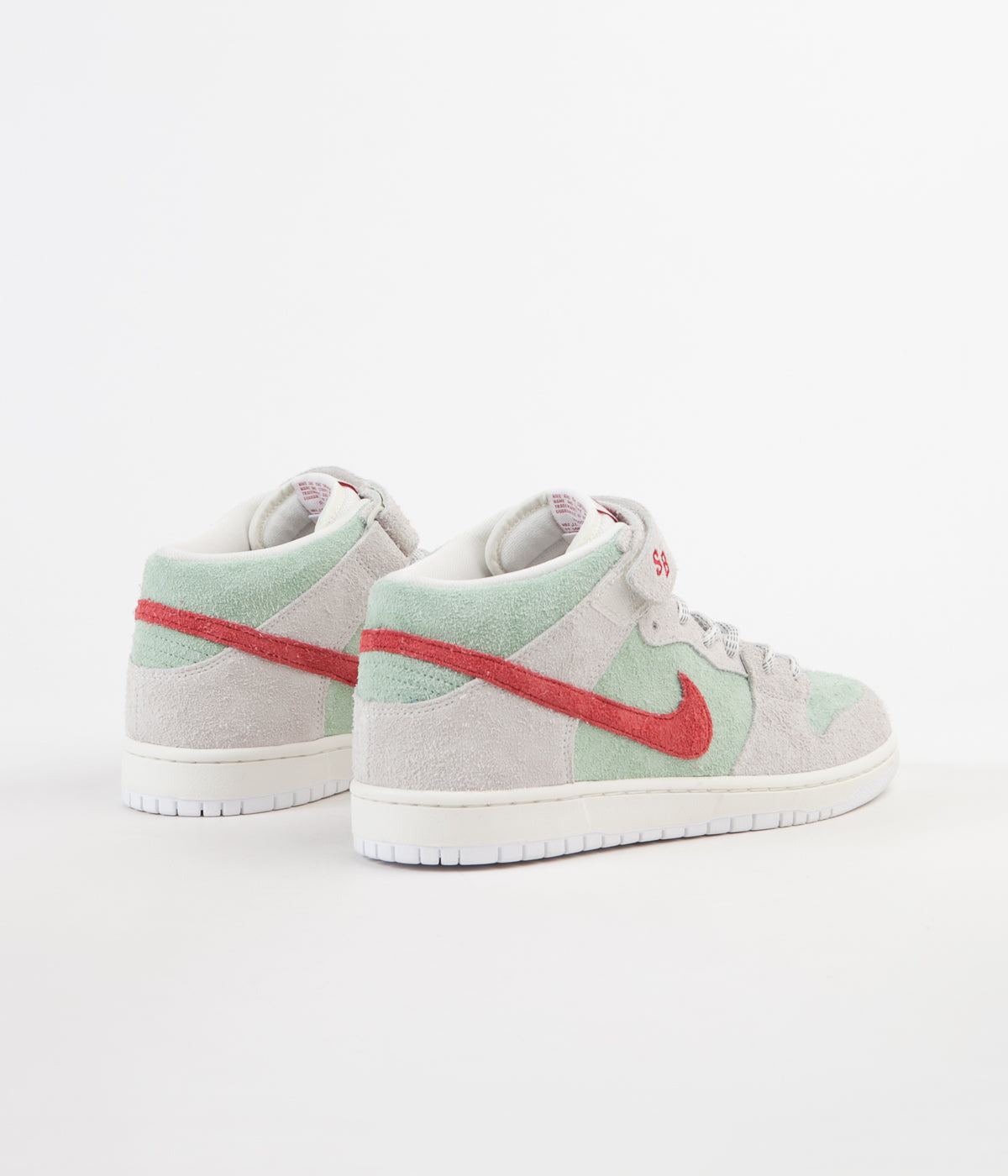 online store 39e06 b7910 ... nike sb dunk mid pro white widow shoes sail gym red