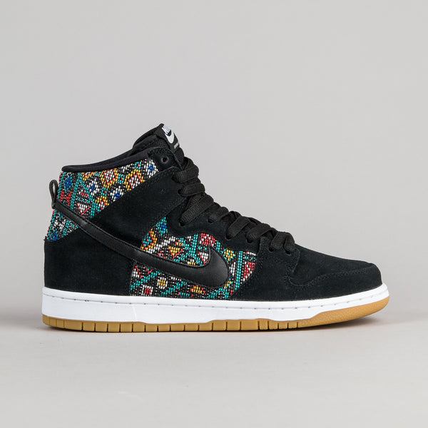 Nike SB Dunk High Premium Shoes - Black / Black - Rio Teal - White