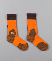 Nike SB Elite Crew Socks - Clay Orange / Baroque Brown / Peach Cream