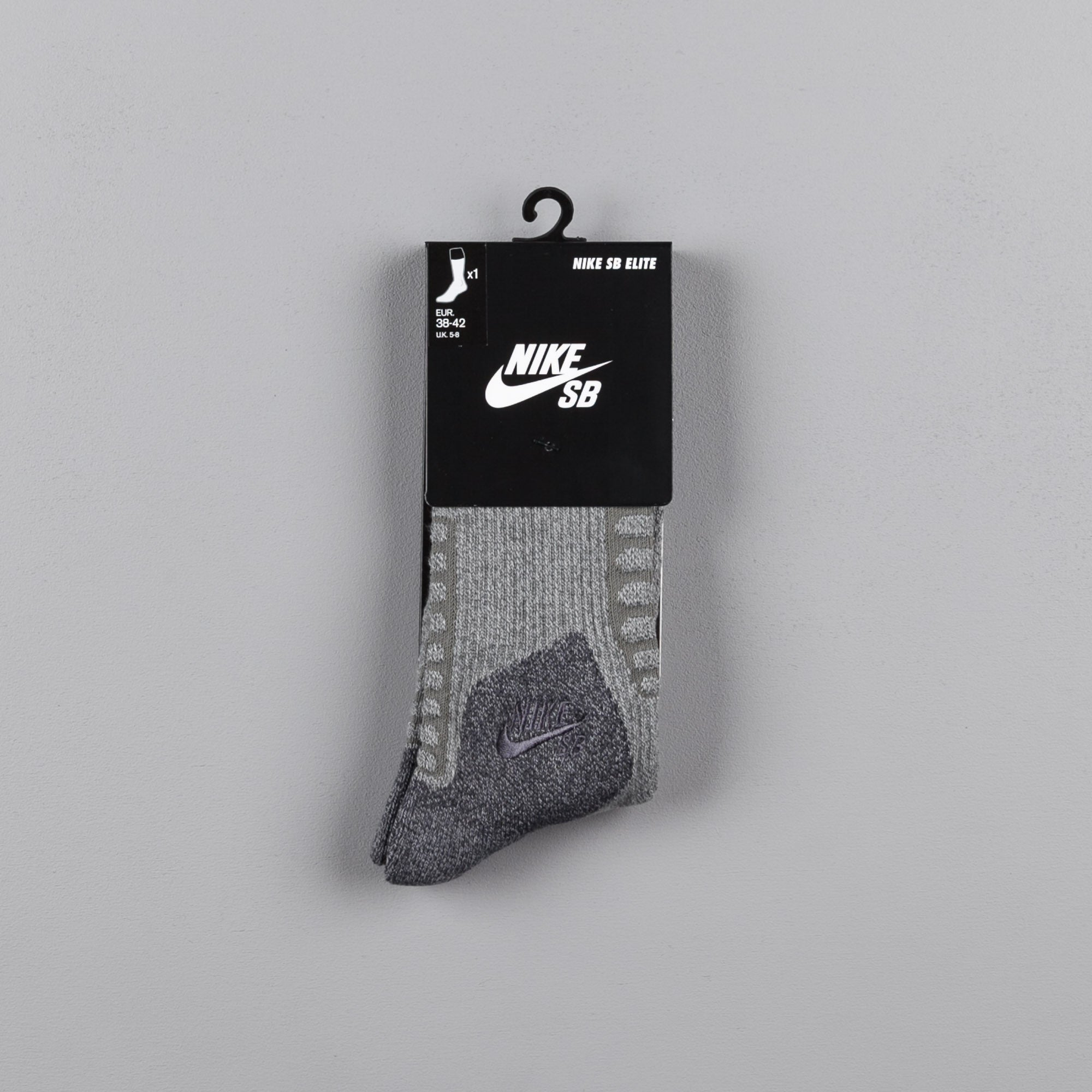 Nike SB Elite Crew Socks - Dark Grey Heather / Anthracite / Anthracite