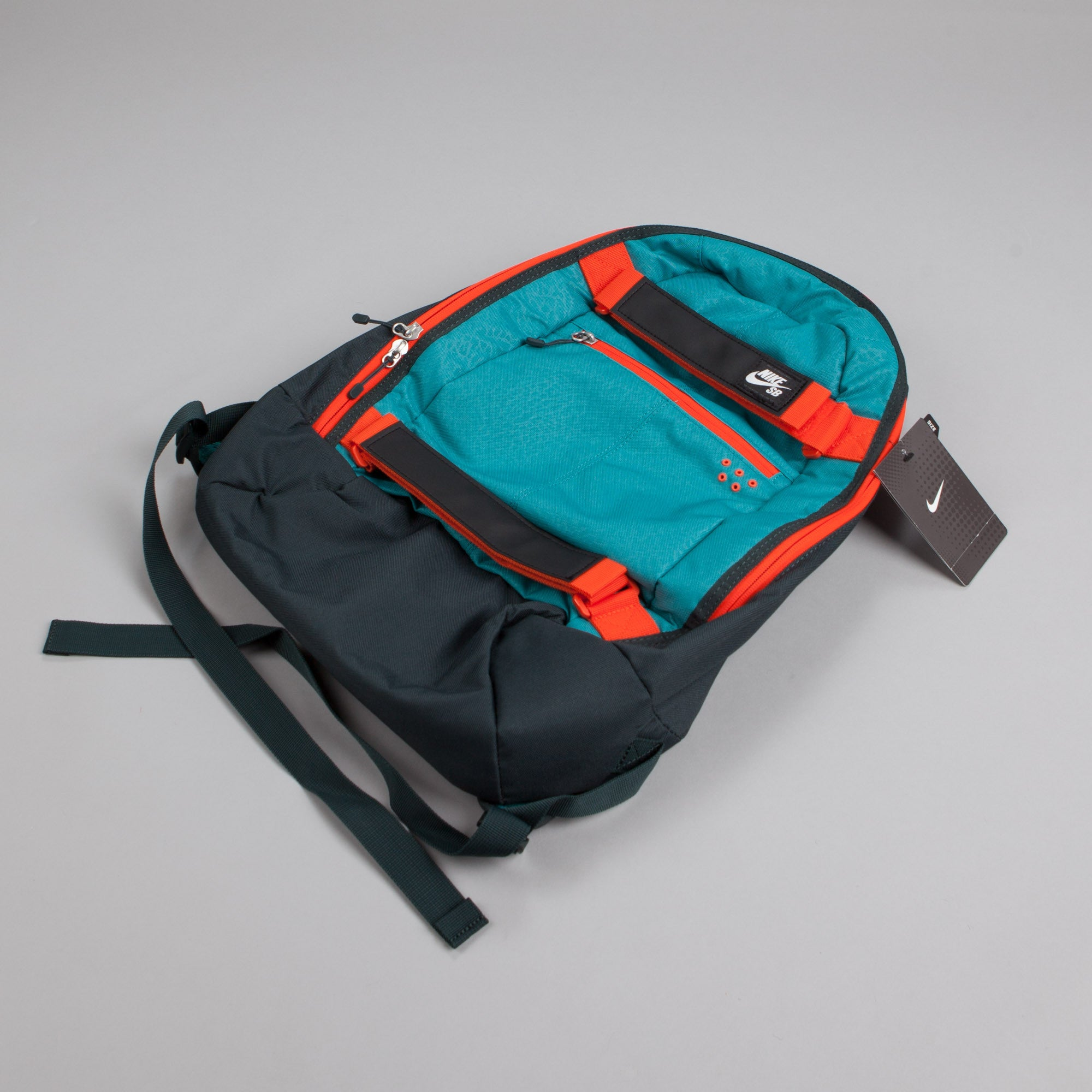 Nike SB Embarca Medium Backpack Catalina / Team Orange - White