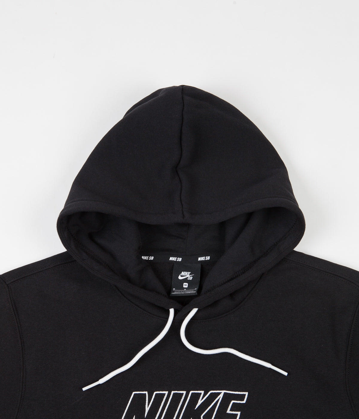 Nike SB Embroidery Hoodie - Black / Summit White