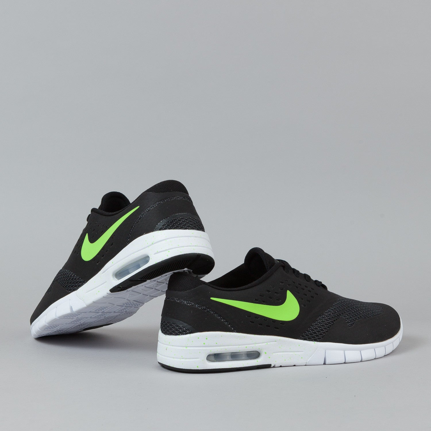 ... Nike SB Eric Koston 2 Max Shoes Black / Flash Lime - White ...