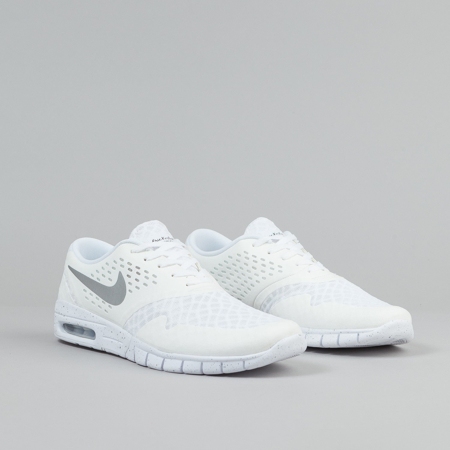 Nike SB Eric Koston 2 Max Shoes - White / Metallic Silver / Black