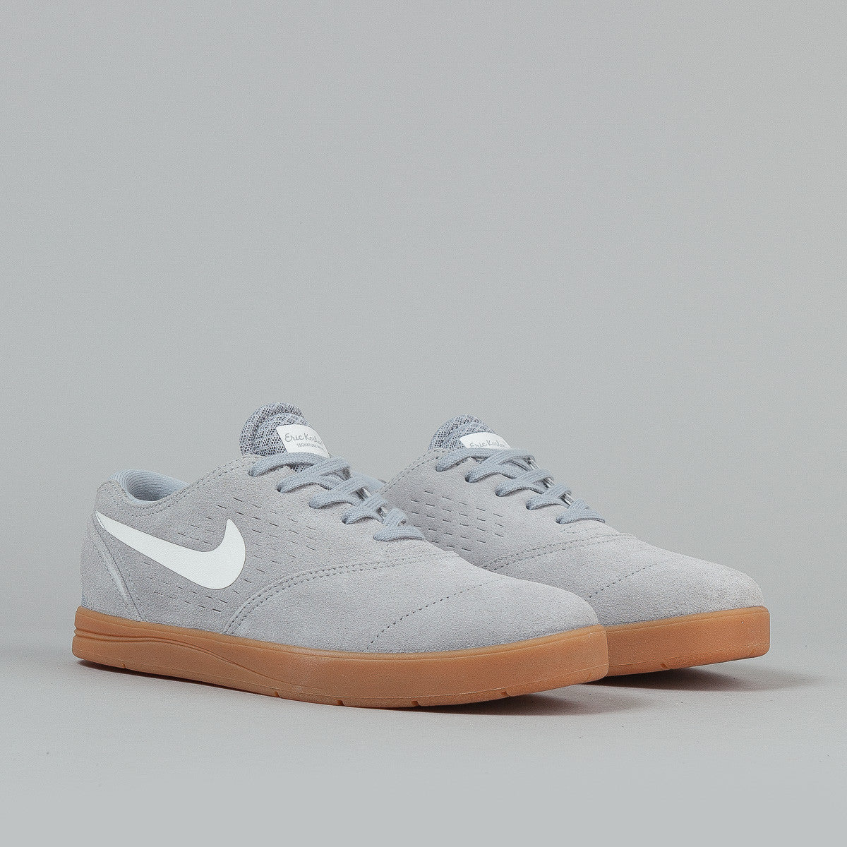 Nike SB Eric Koston 2 Shoes - Wolf Grey / White / Gum Medium Brown