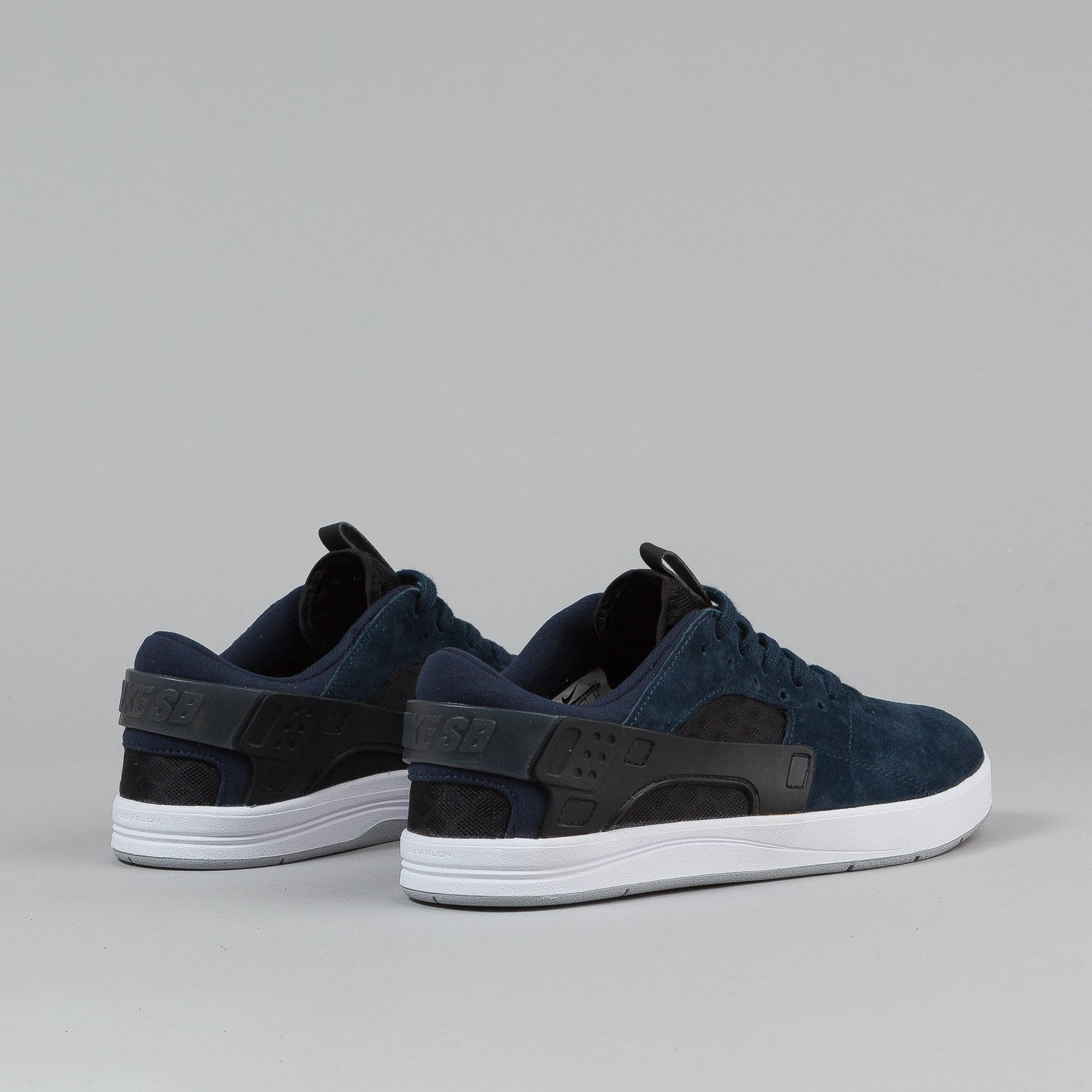 Nike SB Eric Koston Huarache Shoes - Dark Obsidian / White / Black / Wolf Grey