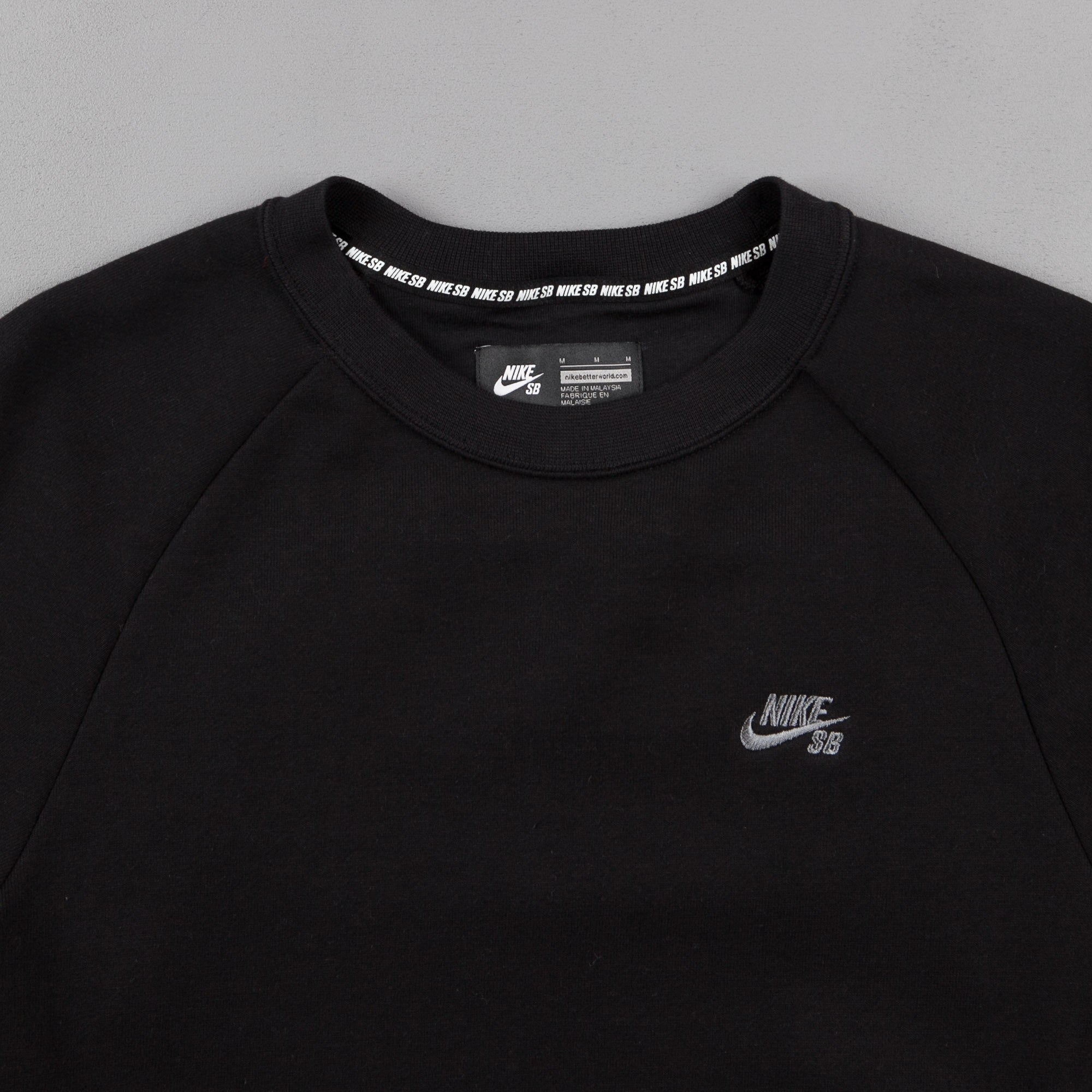 Nike SB Everett Crewneck Sweatshirt - Black / Cool Grey