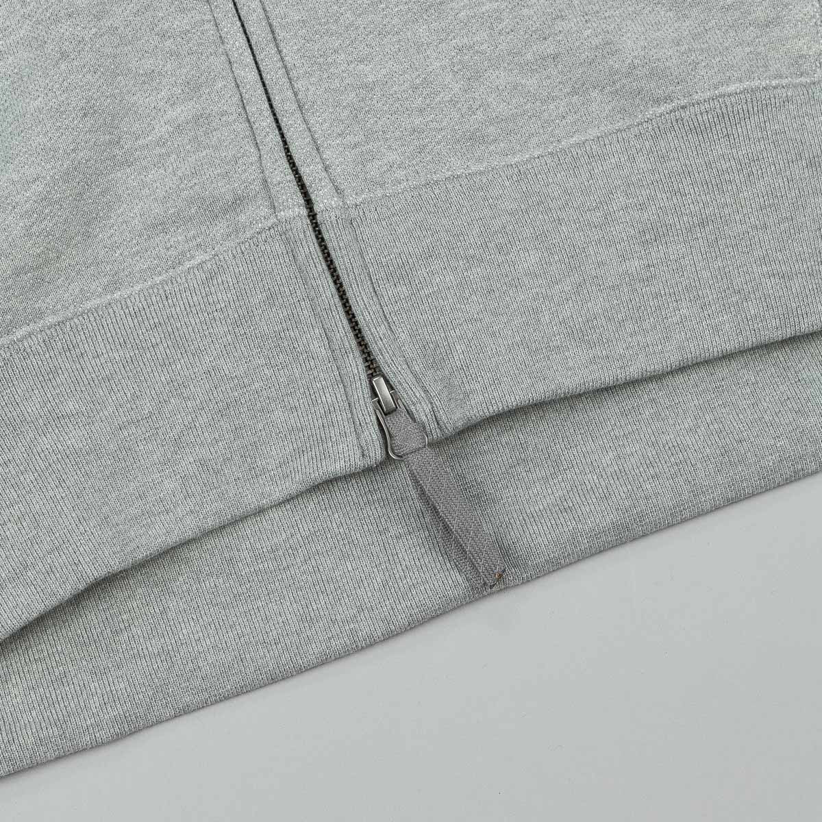 Nike SB Everett Graphic Zip Hooded Sweatshirt - Dark Grey Heather / Black