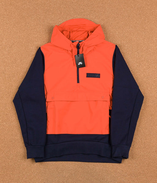 Nike SB Everett Hooded Sweatshirt - Max Orange / Obsidian / Obsidian