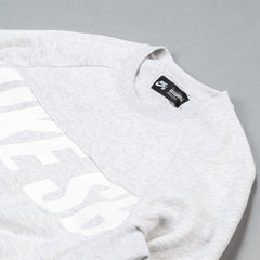 Nike SB Everett Motion Crew Sweatshirt - Birch Heather / White