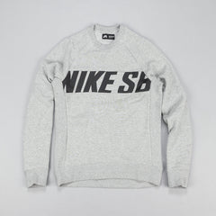 Nike SB Everett Motion Crew Sweatshirt - Dark Grey Heather / Black