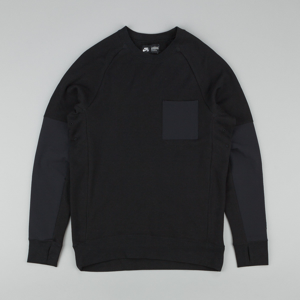 Nike SB Everett Overlay Pocket Crew Neck Sweatshirt