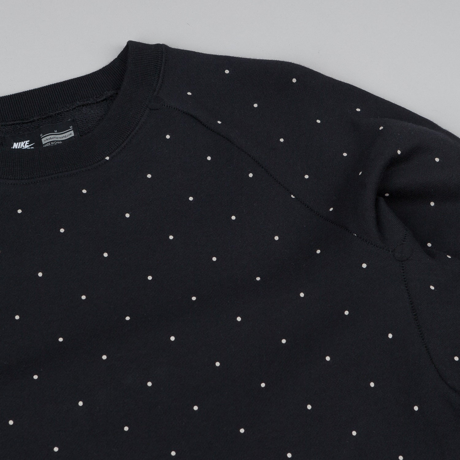 Nike SB Everett Polka Dot Crew Neck Sweatshirt - Black / White