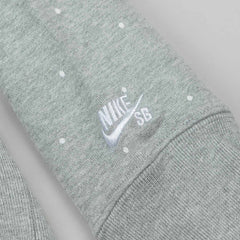 Nike SB Everett Polka Dot Crew Neck Sweatshirt - Heather Grey / Black