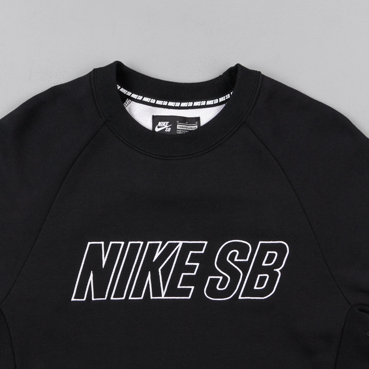 Nike SB Everett Reveal Crewneck Sweatshirt - Black / White