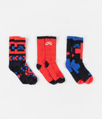 Nike SB Everyday Max Lightweight Crew Socks (3 Pair) - Multi Color