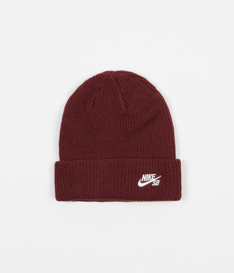 Nike SB Fisherman Beanie - Dark Team Red / White