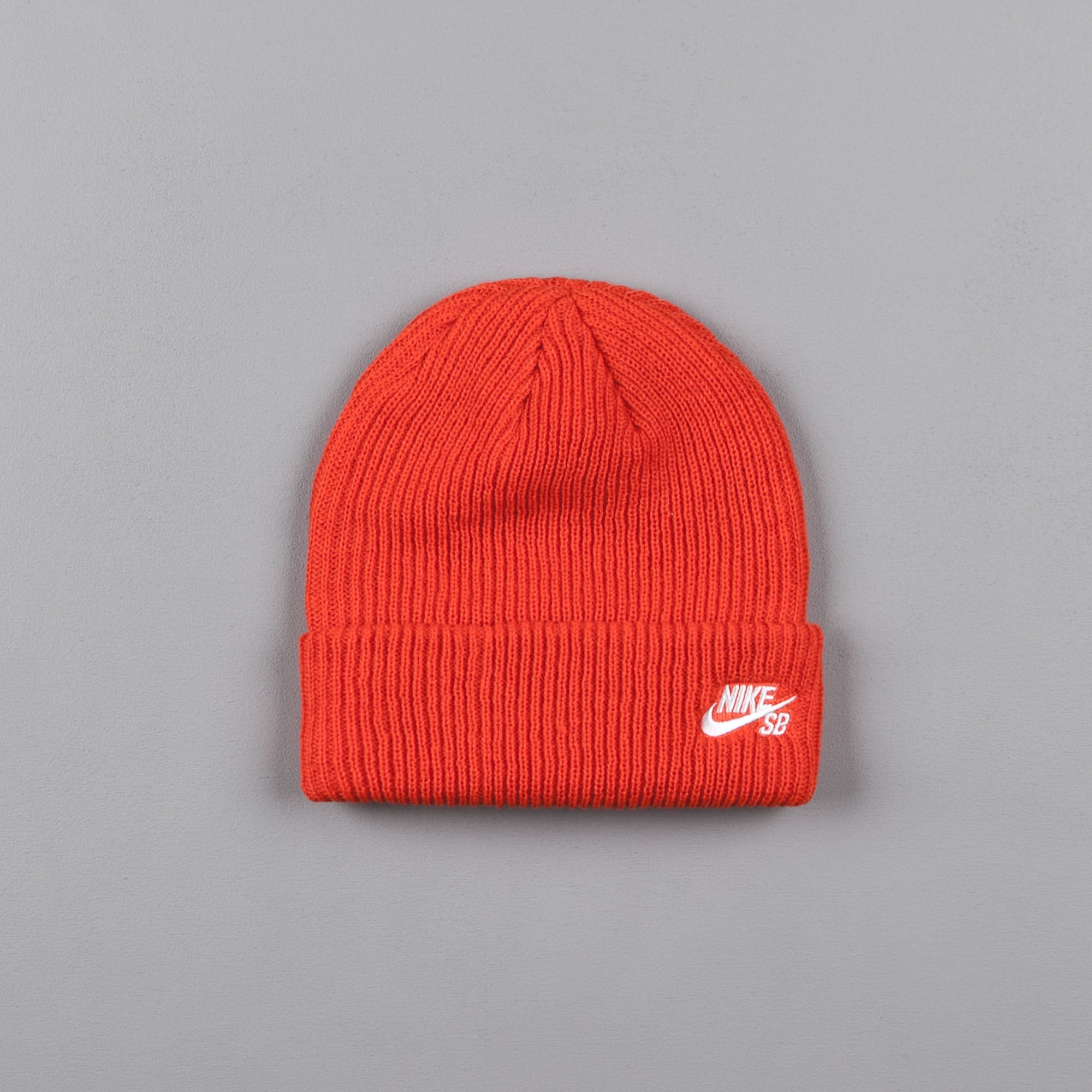32f786891f7ca Nike SB Fisherman Beanie - Max Orange   White