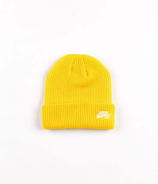 Nike SB Fisherman Beanie - Tour Yellow / White