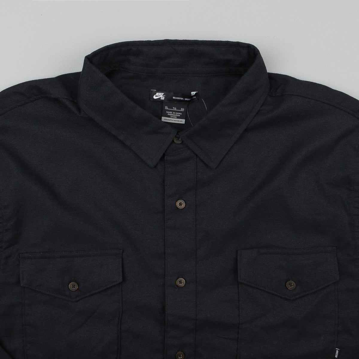 Nike SB Flagrant Flannel Long Sleeve Shirt - Black